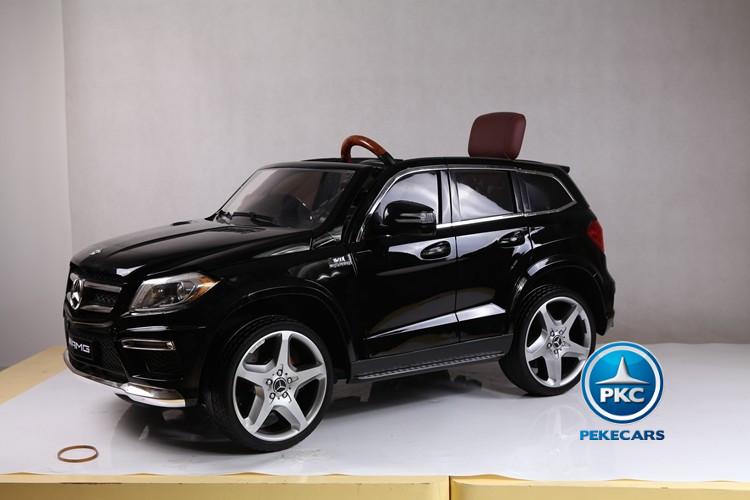 Coche electrico para niños Mercedes GL63 Version Super Luxe Negro con luces en los bajos