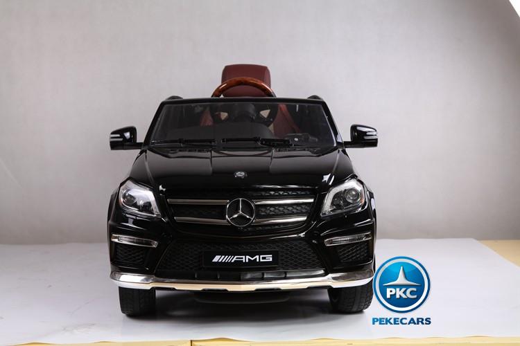 Coche electrico infantil Mercedes GL63 Version Super Luxe Negro vista frontal