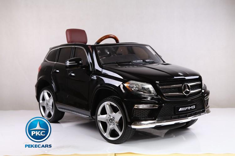 Coche electrico para niños Mercedes GL63 Version Super Luxe Negro luces en las ruedas