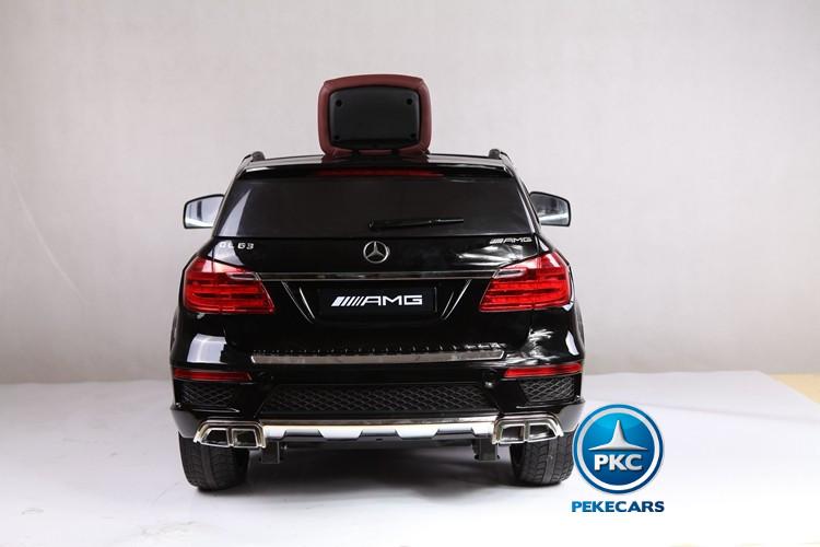 Coche electrico para niños Mercedes GL63 Version Super Luxe Negro vista trasera