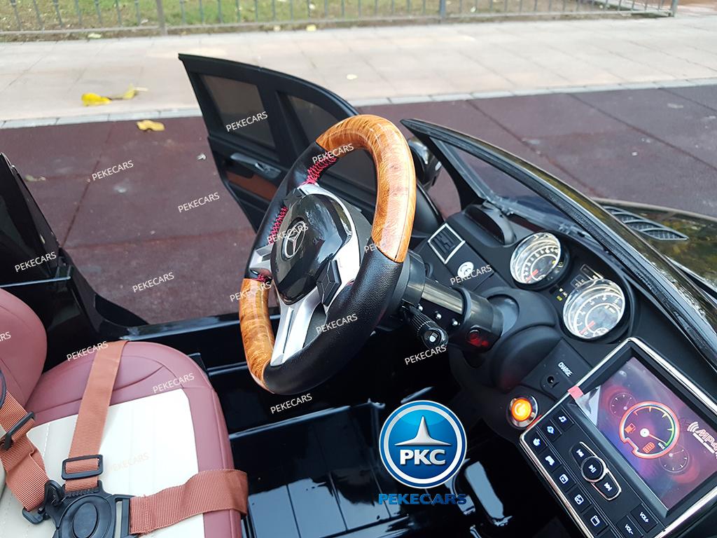 Coche electrico para niños Mercedes GL63 Version Superior Negro volante ajustable en altura
