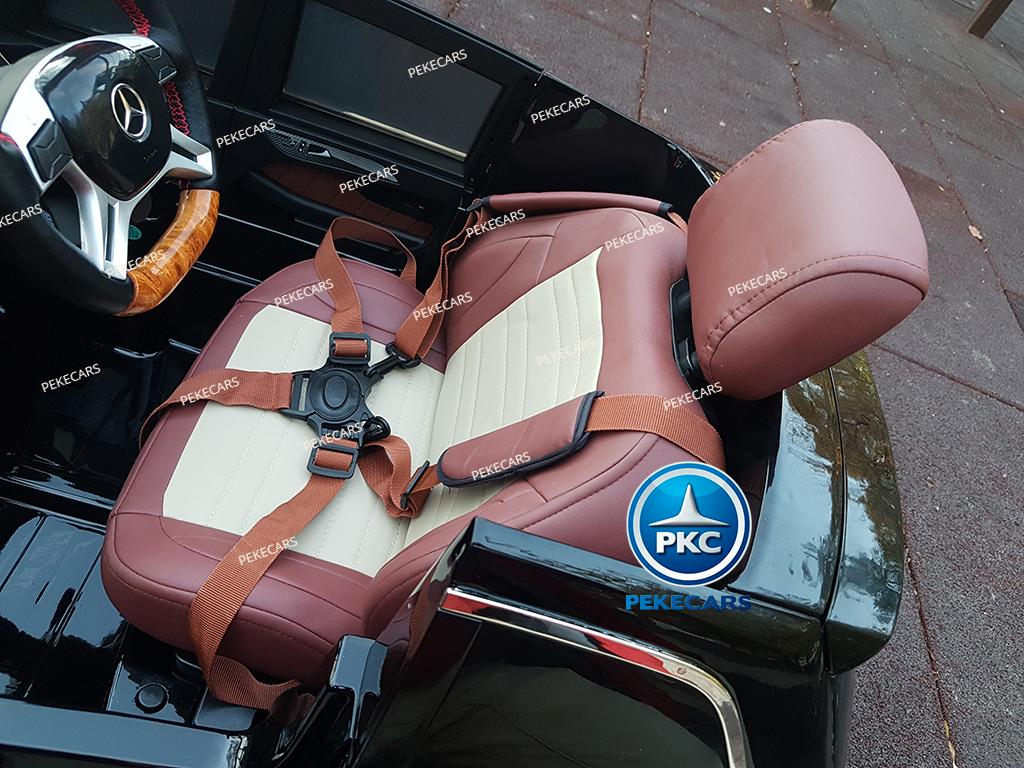Coche electrico para niños Mercedes GL63 Version Superior Negro asiento acolchado en piel