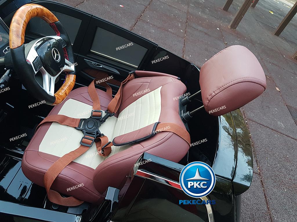 Coche electrico para niños Mercedes GL63 Version Superior Negro cabezal ajustable