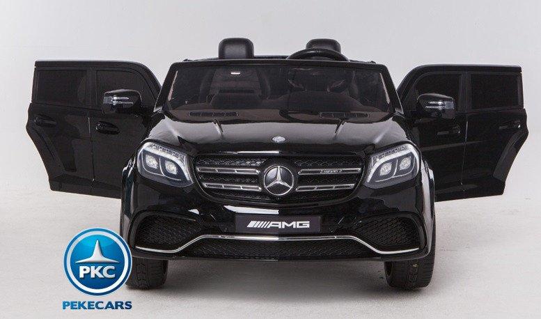 Coche electrico para niños Mercedes GLS63 Negro vista frontal