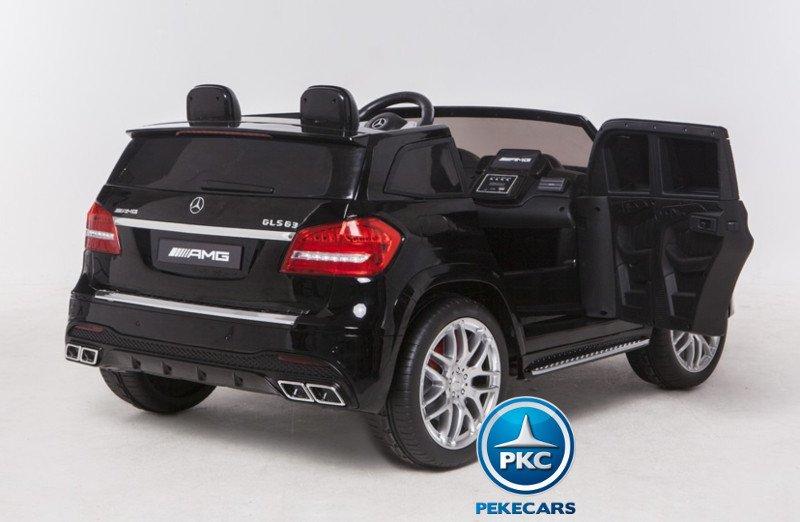 Coche electrico para niños Mercedes GLS63 Negro con apertura de puertas