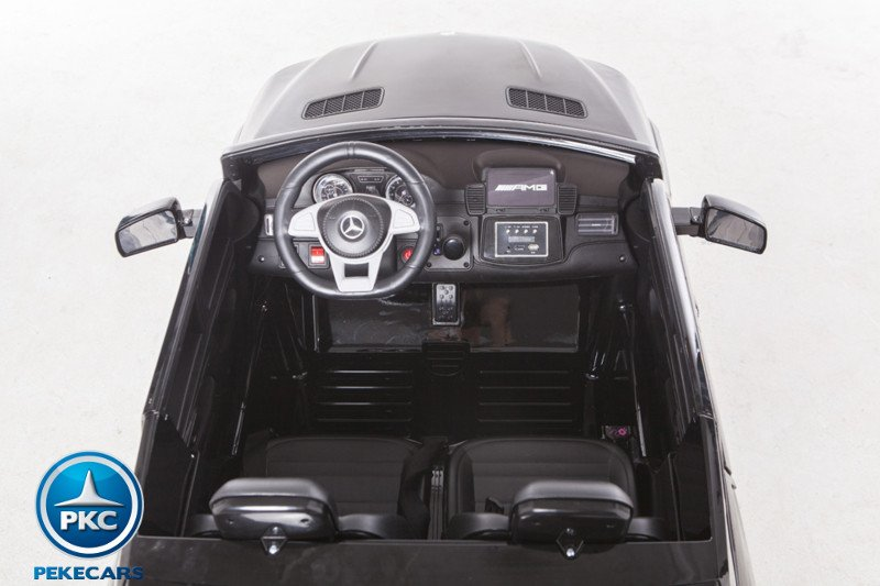 Coche electrico infantil Mercedes GLS63 Negro interior