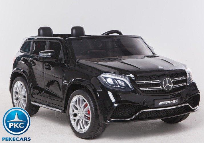 Coche electrico para niños Mercedes GLS63 Negro con radio FM