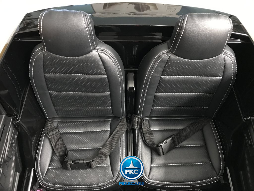 Coche electrico para niños Mercedes GLS63 Negro con dos plazas