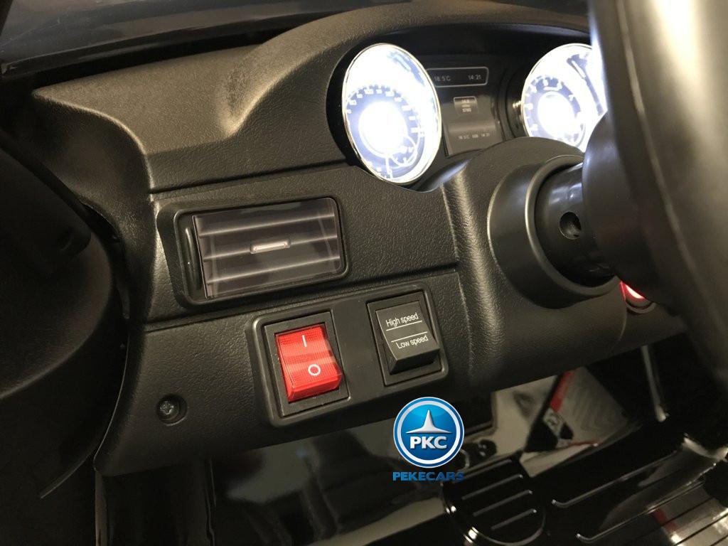 Coche electrico infantil Mercedes GLS63 Negro boton de arranque
