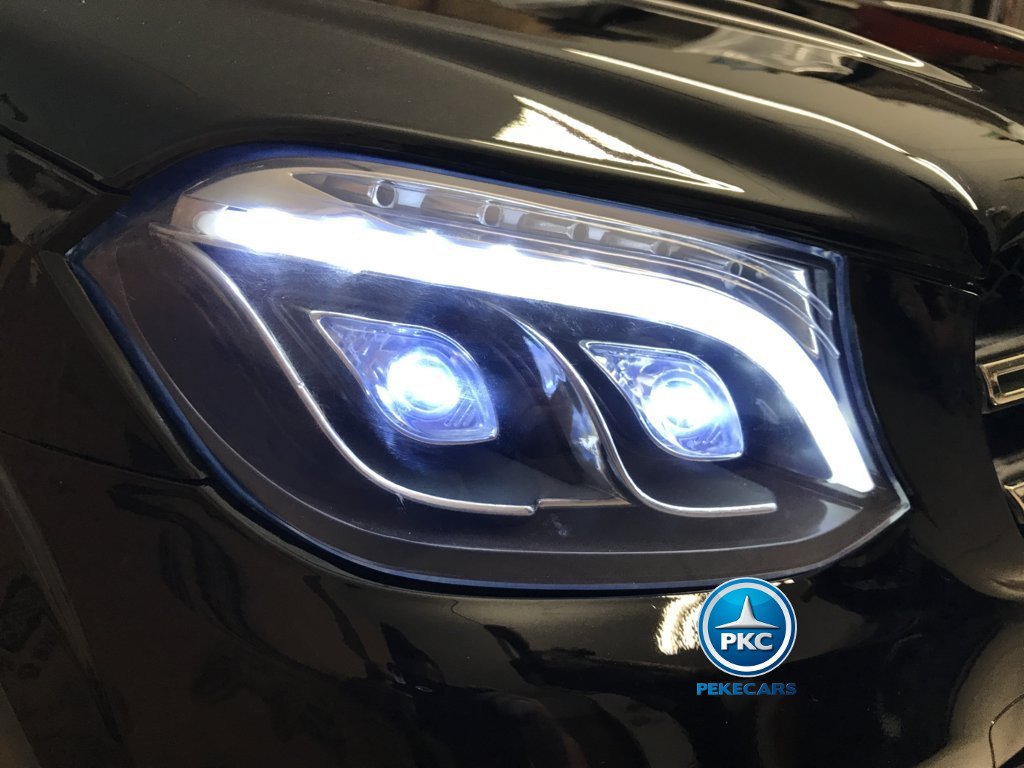 Coche electrico infantil Mercedes GLS63 Negro luces frontales