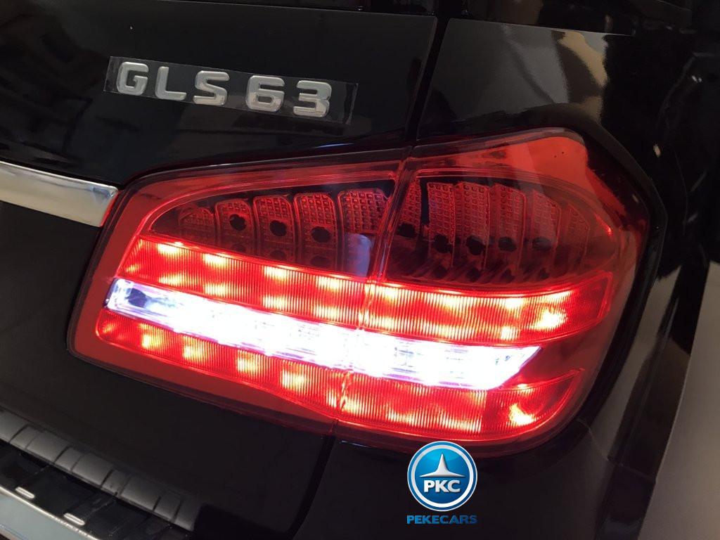 Coche electrico para niños Mercedes GLS63 Negro luces traseras