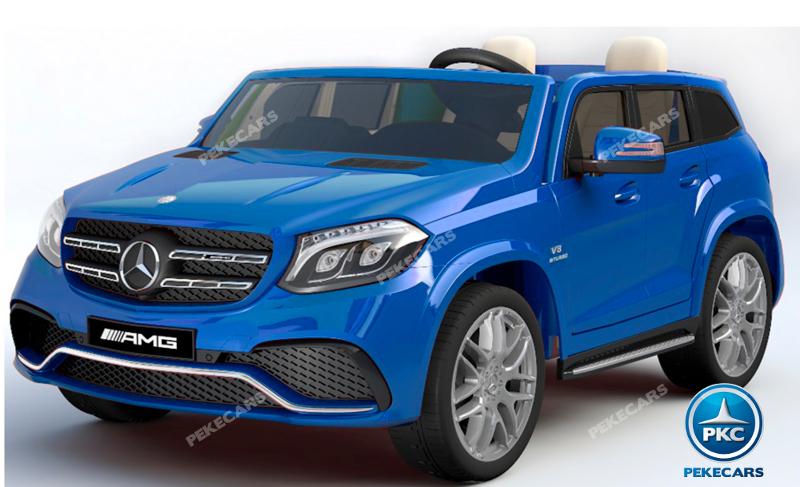 Coche electrico para niños Mercedes GLS63 Azul Metalizado vista principal