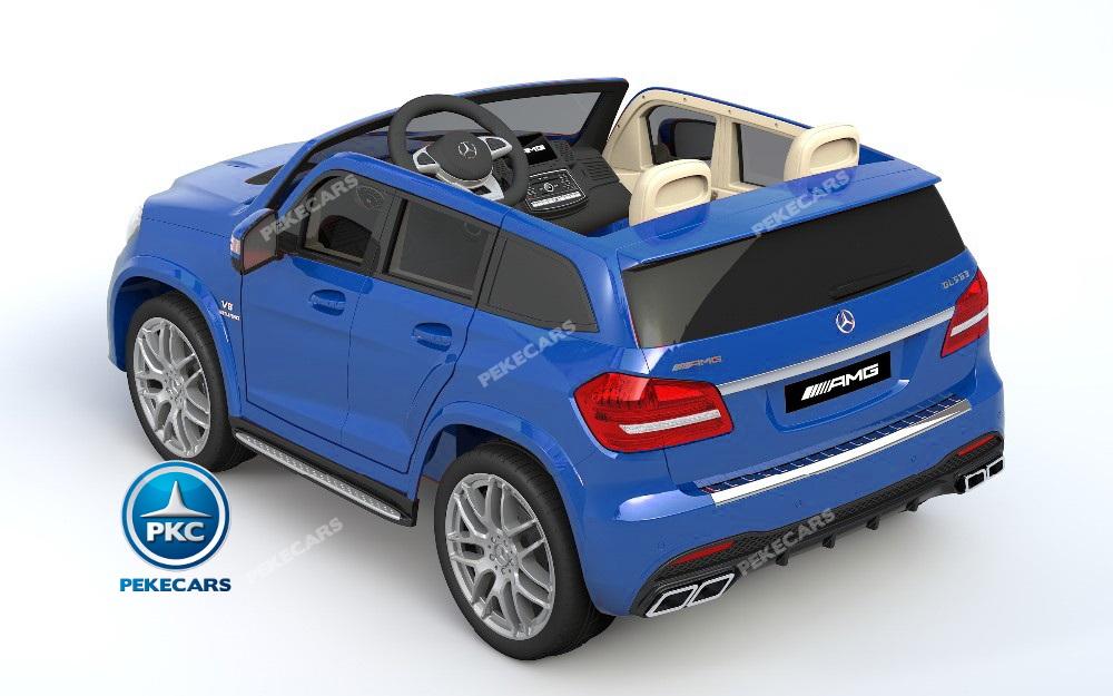 Coche electrico infantil Mercedes GLS63 Azul Metalizado con apertura de puertas