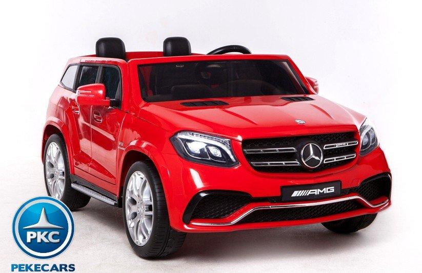 Coche electrico para niños Mercedes GLS63 Rojo vista principal