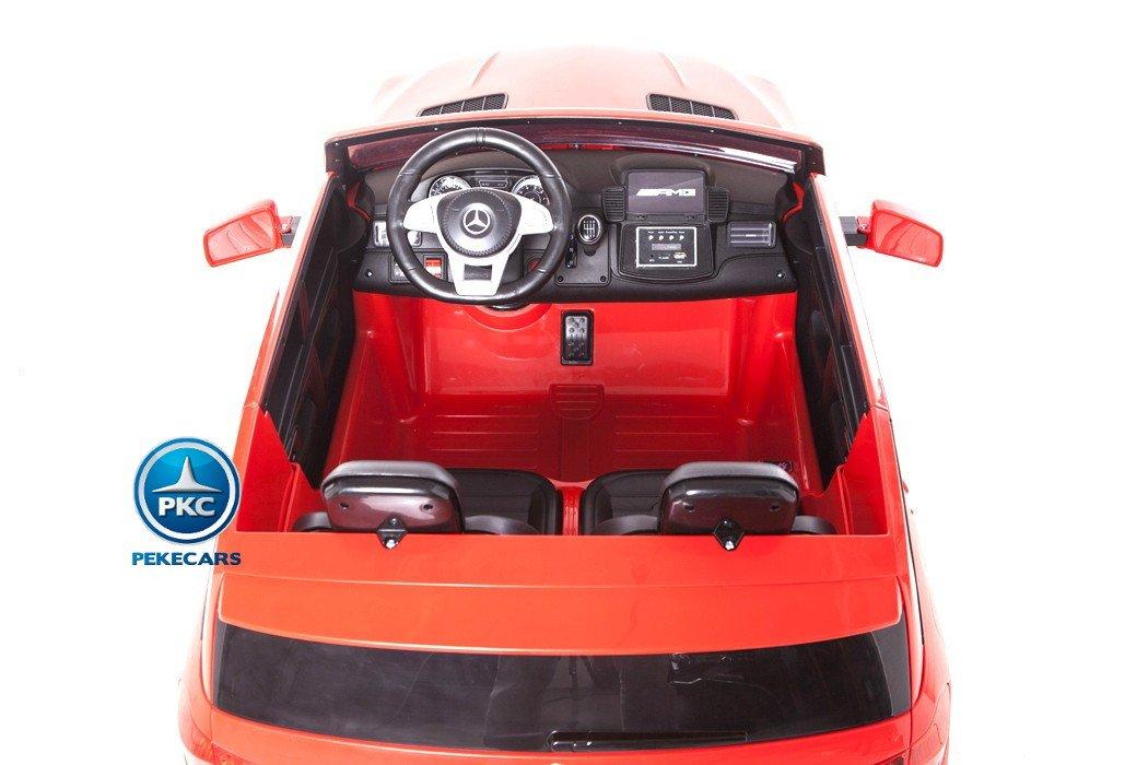 Coche electrico para niños Mercedes GLS63 Rojo detalles del interior