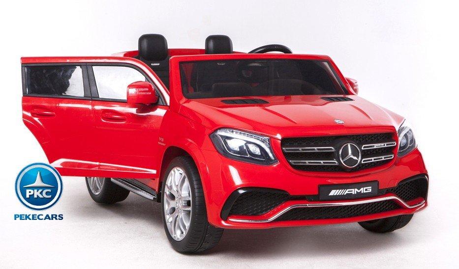 Coche electrico infantil Mercedes GLS63 Rojo con apertura de puertas