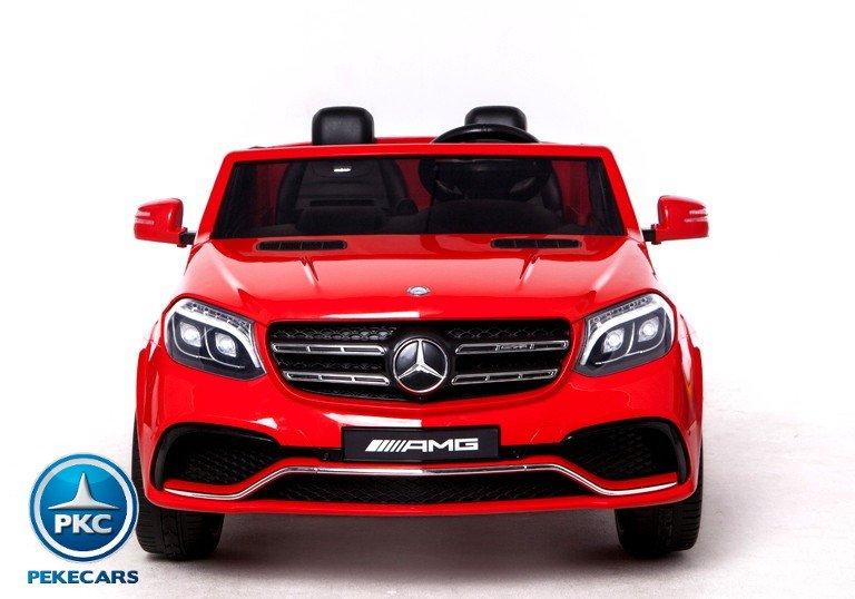 Coche electrico para niños Mercedes GLS63 Rojo vista frontal