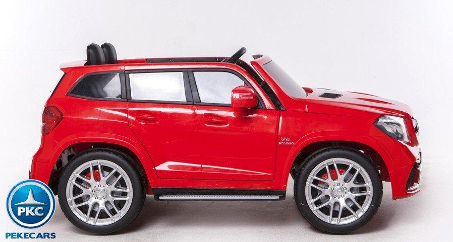 Coche electrico infantil Mercedes GLS63 Rojo ruedas de caucho antipinchazos