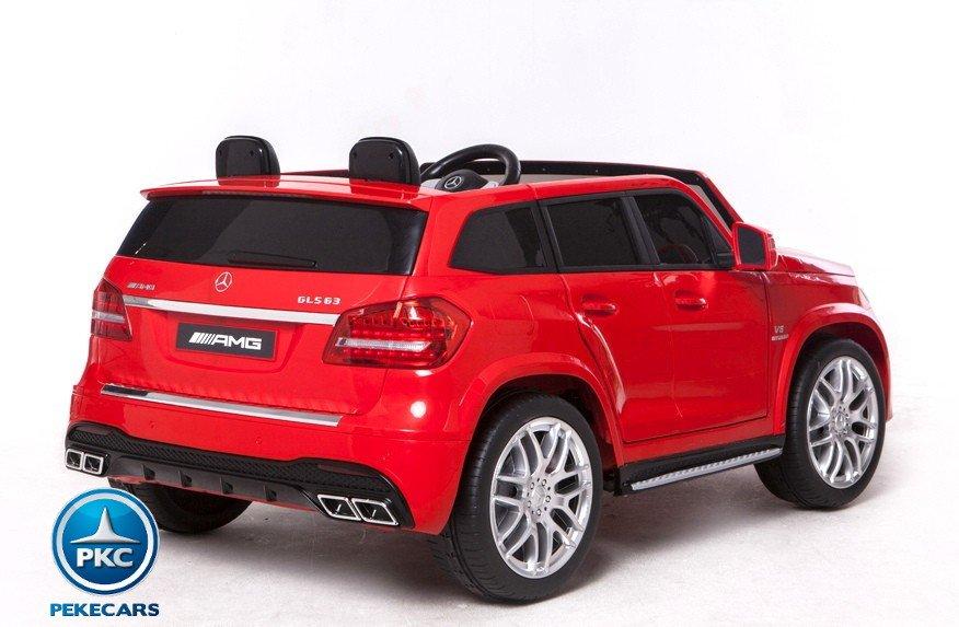 Coche electrico para niños Mercedes GLS63 Rojo asa de transporte