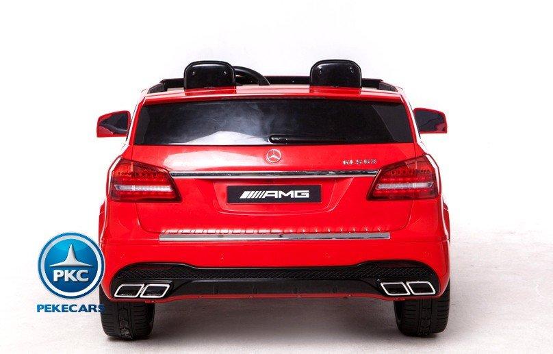 Coche electrico para niños Mercedes GLS63 Rojo vista trasera