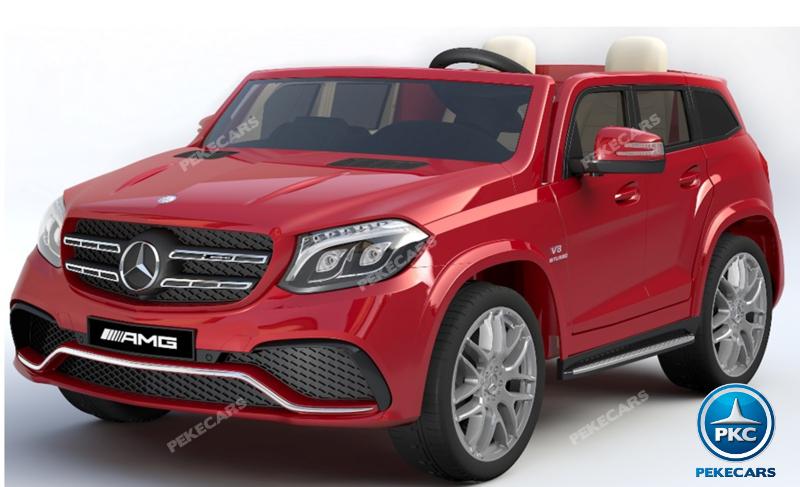 Coche electrico para niños Mercedes GLS63 Rojo Metalizado vista principal