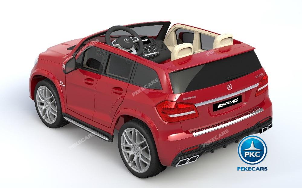Coche electrico infantil Mercedes GLS63 Rojo Metalizado con apertura de puertas