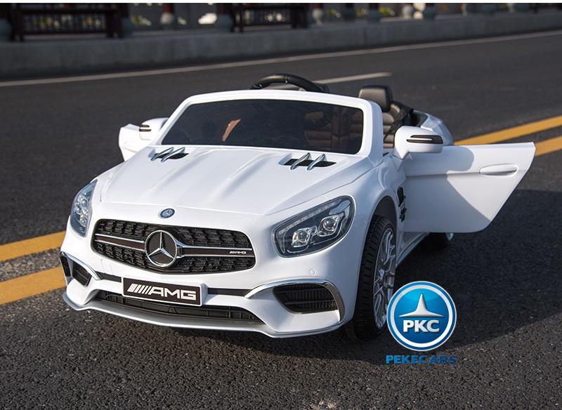 Coche electrico para niños Mercedes SL65 Blanco vista principal