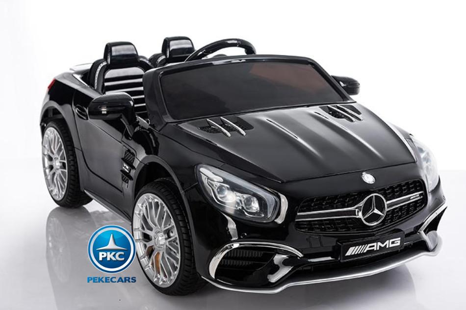 Coche electrico infantil Mercedes SL65 Negro con apertura de puertas