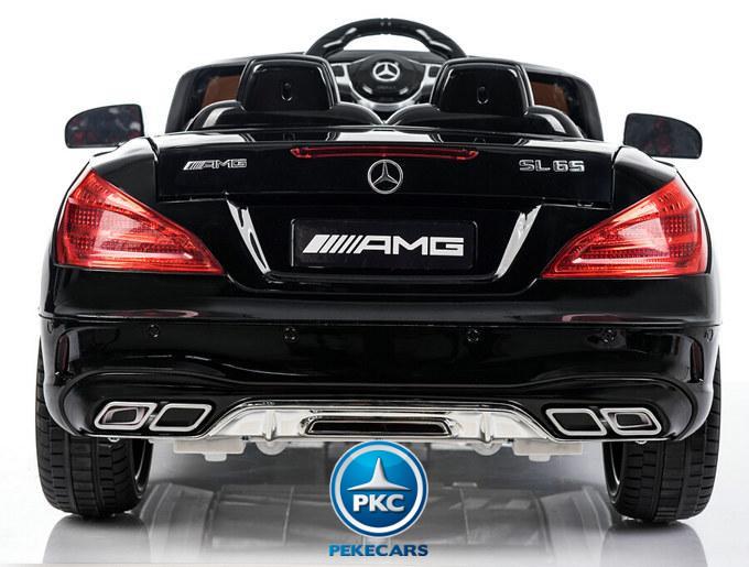Coche electrico para niños Mercedes SL65 Negro vista trasera