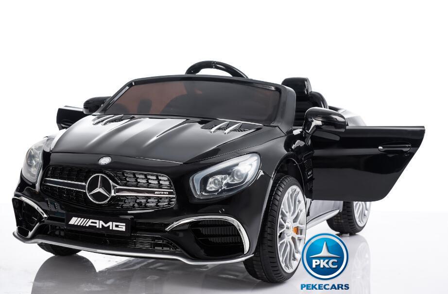 Coche electrico para niños Mercedes SL65 Negro vista principal
