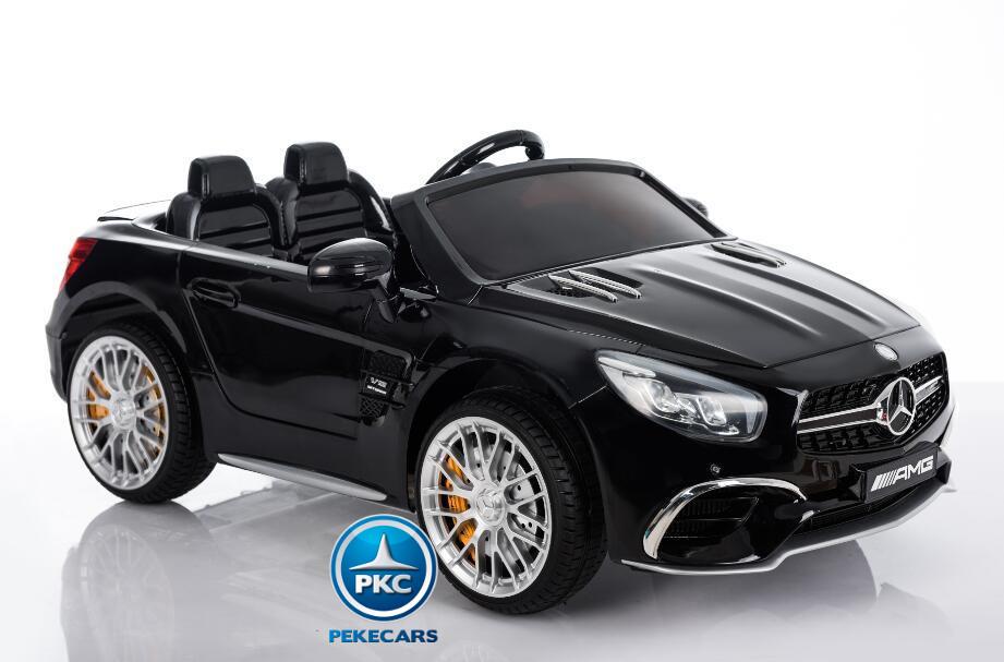 Coche electrico infantil Mercedes SL65 Negro ruedas de caucho antipinchazos