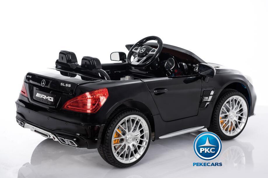 Coche electrico para niños Mercedes SL65 Negro con luces traseras