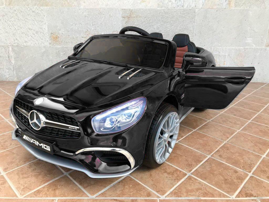 Coche electrico infantil Mercedes SL65 con MP4 y bateria extra Negro