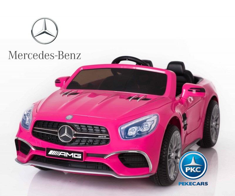 Coche electrico infantil Mercedes SL65 Rosa con licencia oficial