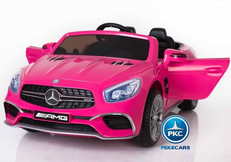 Coche electrico para niños Mercedes SL65 Rosa vista principal