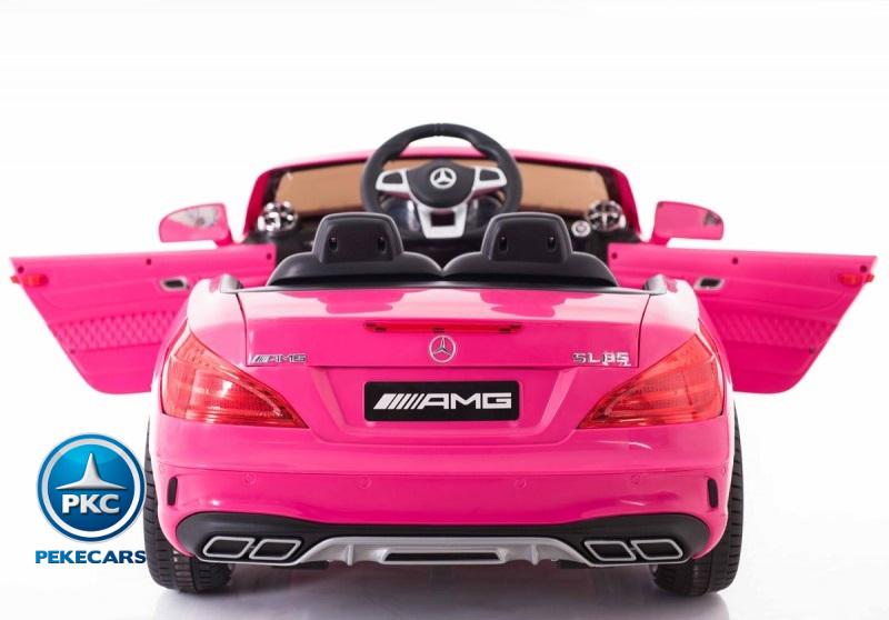 Coche electrico para niños Mercedes SL65 Rosa vista trasera