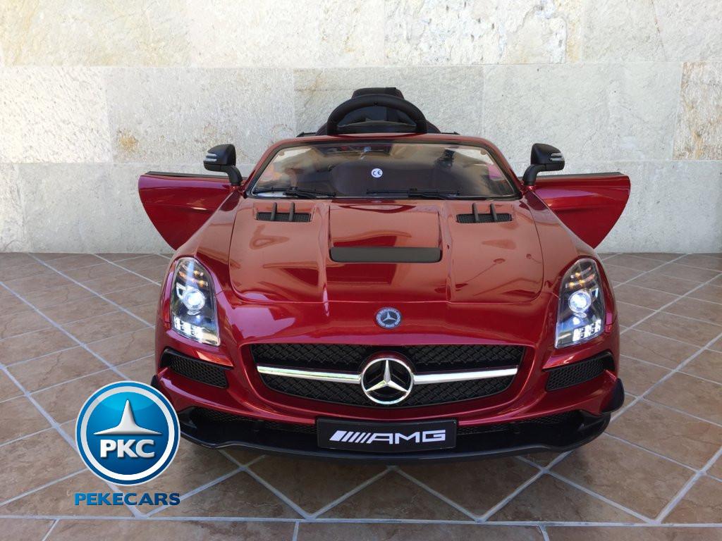 Coche electrico infantil Mercedes deportivo sls Rojo Metalizado con apertura de puertas