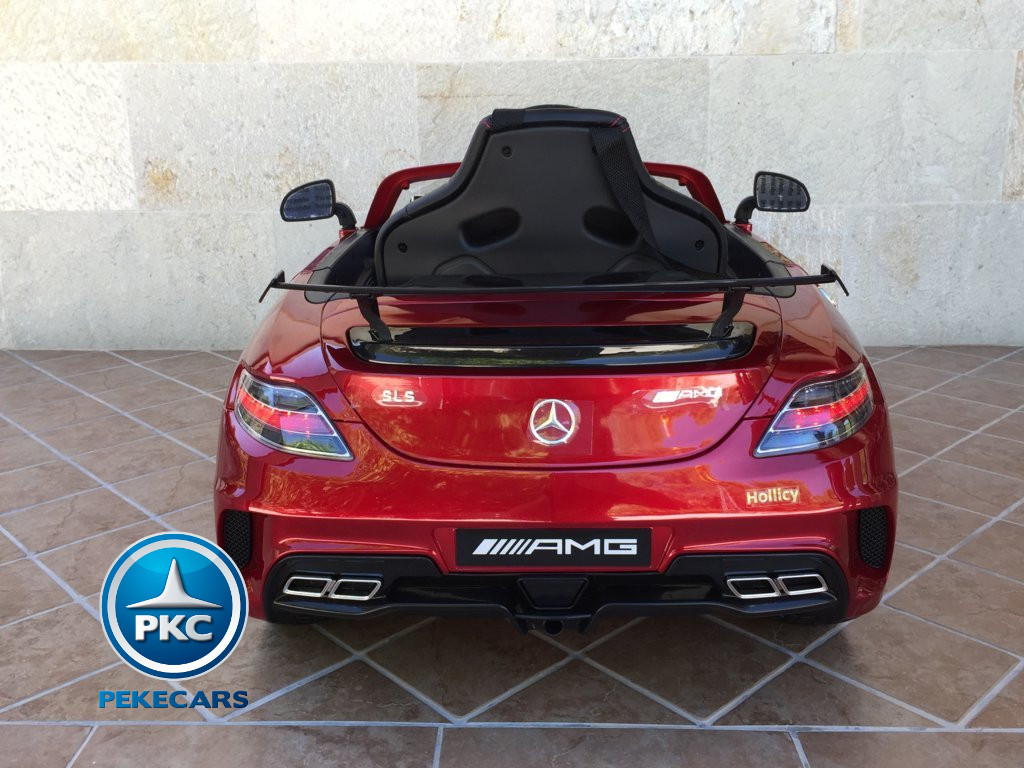 Coche electrico para niños Mercedes deportivo sls Rojo Metalizado vista frontal