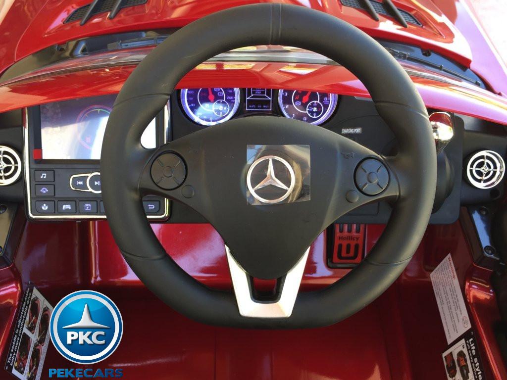Coche electrico para niños Mercedes deportivo sls Rojo Metalizado lateral
