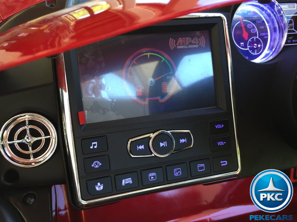 Coche electrico infantil Mercedes deportivo sls Rojo Metalizado maletero