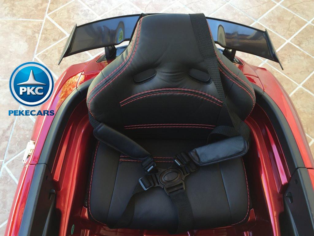 Coche electrico infantil Mercedes deportivo sls Rojo Metalizado aleron trasero