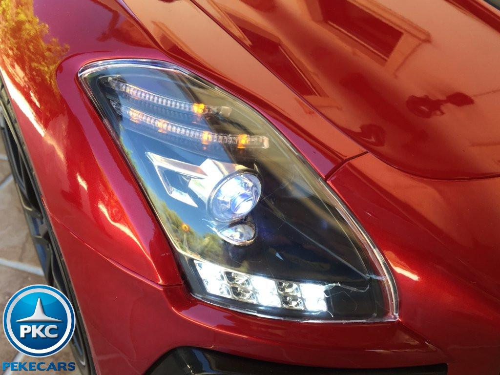 Coche electrico para niños Mercedes deportivo sls Rojo Metalizado con asa de transporte