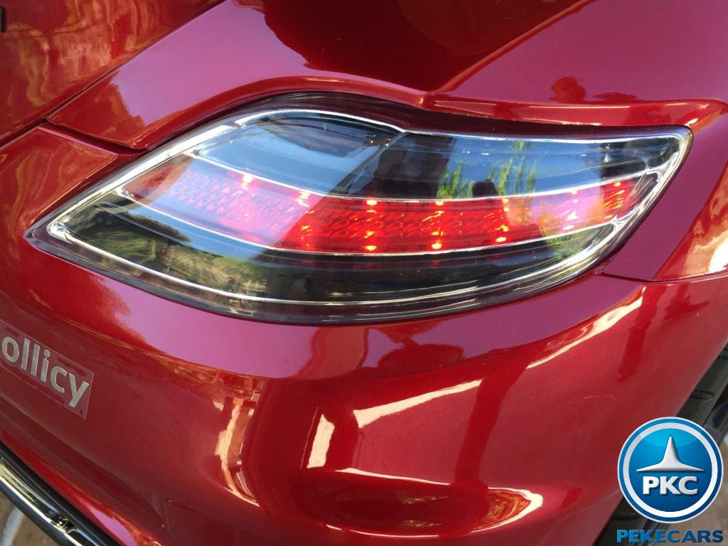 Coche electrico infantil Mercedes deportivo sls Rojo Metalizado vista trasera