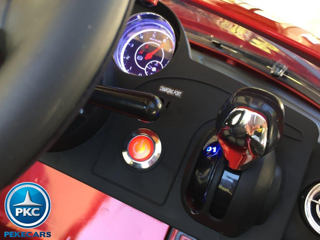 Coche electrico infantil Mercedes deportivo sls Rojo Metalizado con boton de arranque