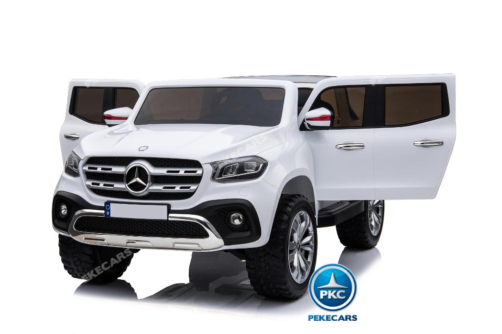 Coche electrico para niños Mercedes Pickup X Class 12V Blanco vista principal