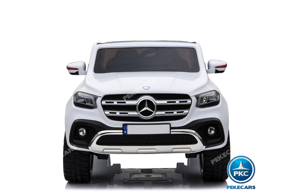 Coche electrico infantil Mercedes Pickup X Class 12V Blanco luces frontales