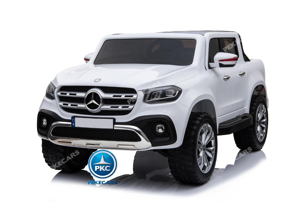Coche electrico para niños Mercedes Pickup X Class 12V Blanco ruedas de caucho antipinchazos