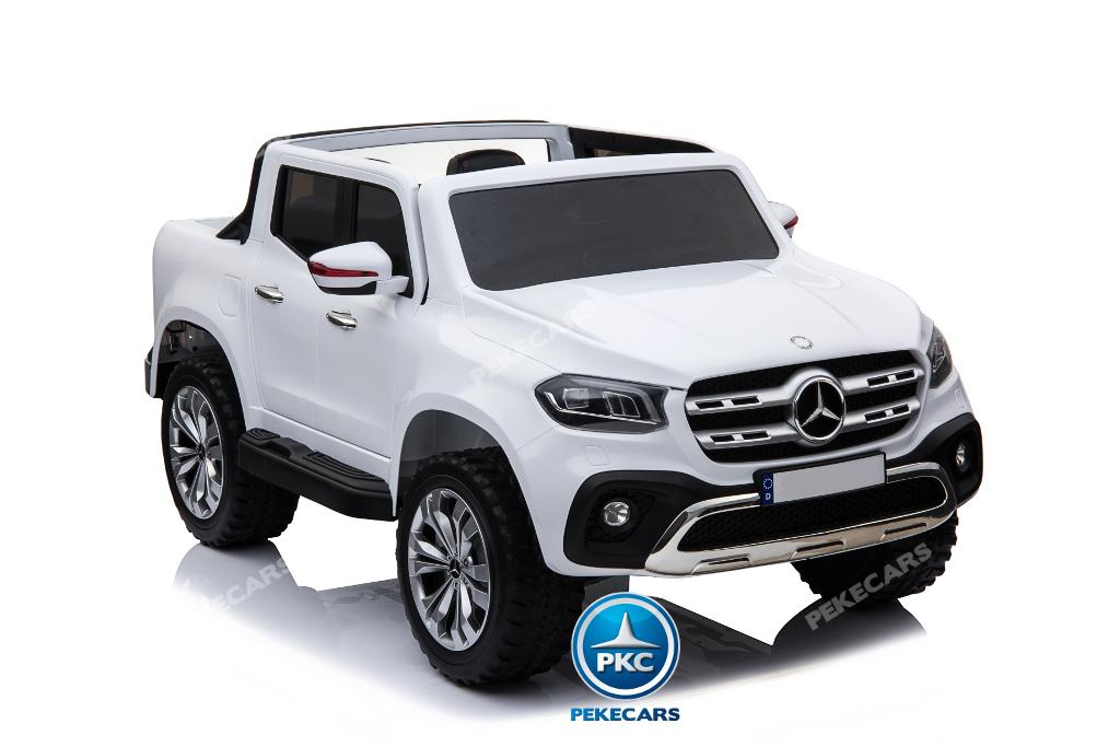 Coche electrico para niños Mercedes Pickup X Class 12V Blanco dos plazas