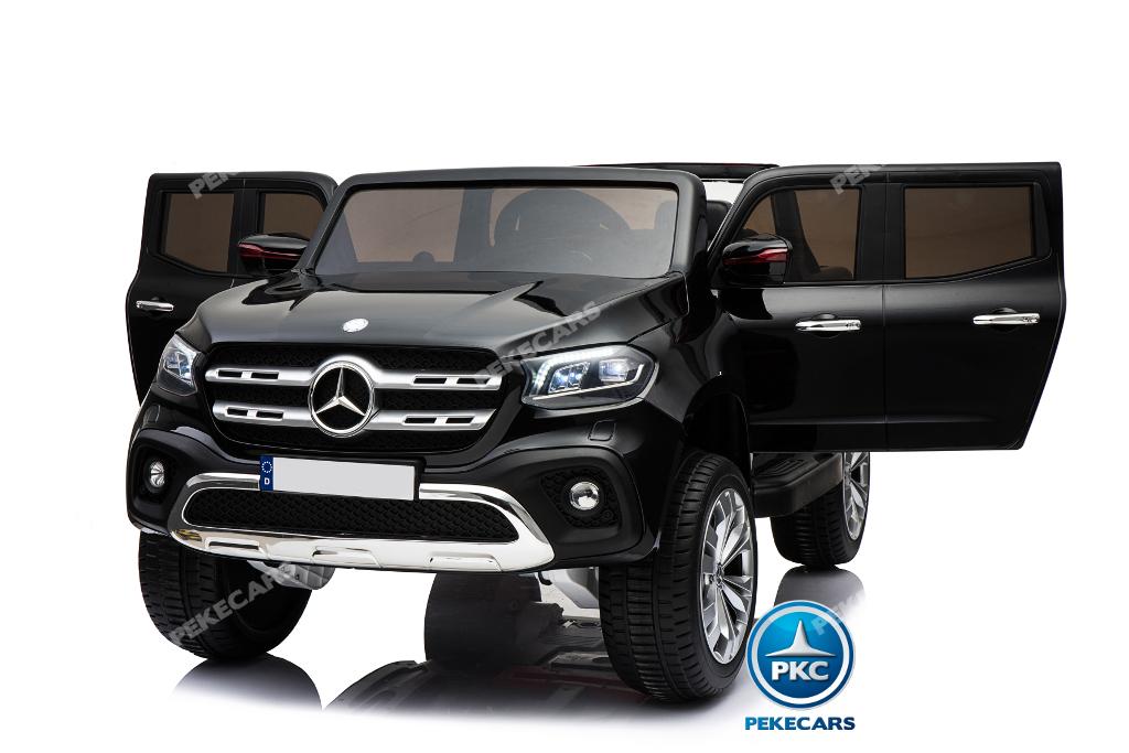 Coche electrico para niños Mercedes Pickup X Class 12V Negro vista principal