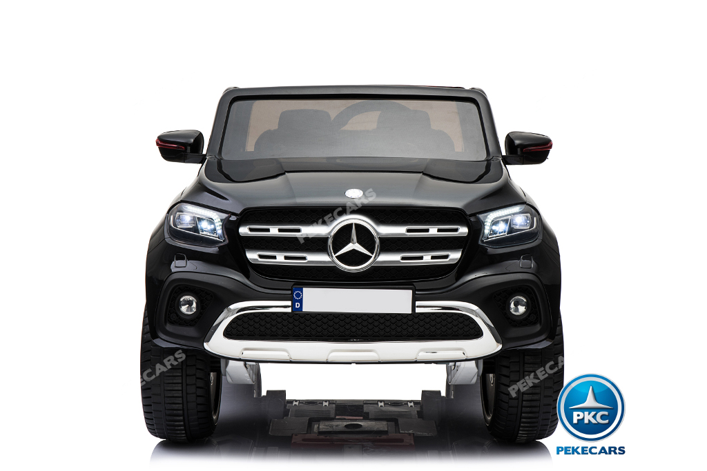 Coche electrico para niños Mercedes Pickup X Class 12V Negro con apertura de puertas